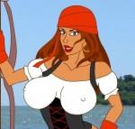 Стриптиз от сексуальной пиратши